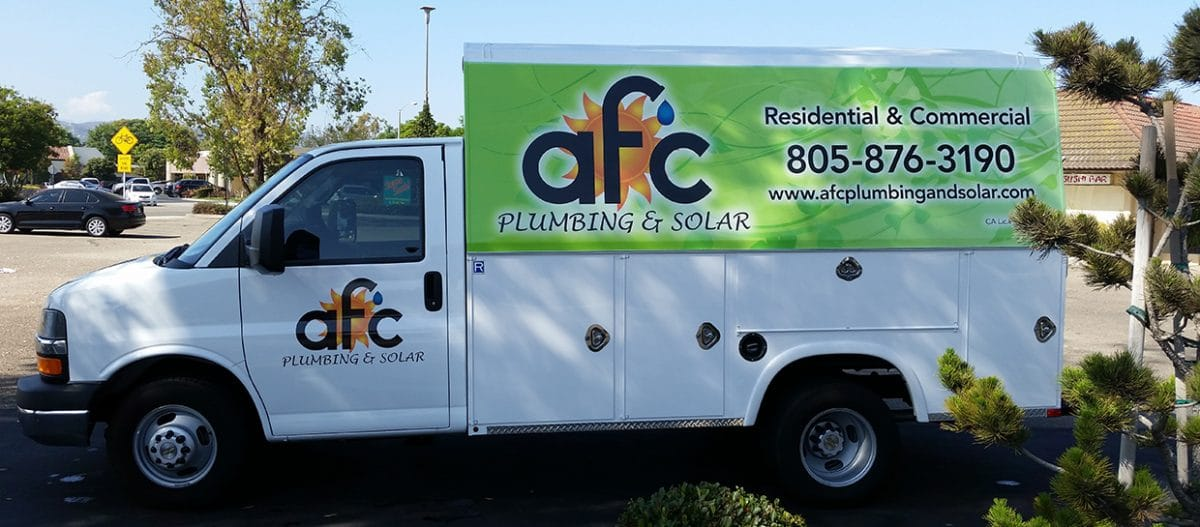 AFC residential and commercial plumbing and solar truck