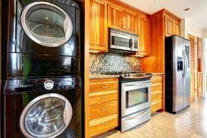 kitchen appliances and sink