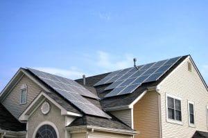 Professional residential solar panel installation