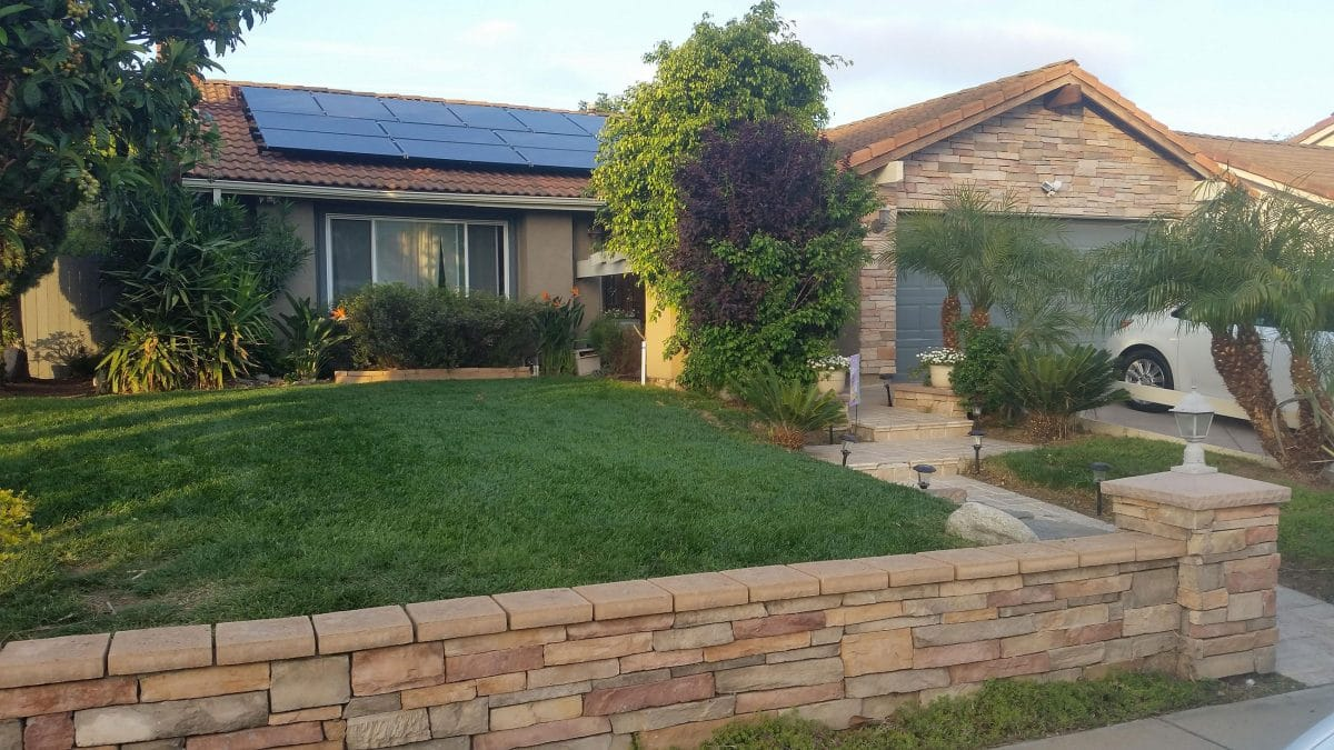 Residential solar power installation Camarillo, California CA